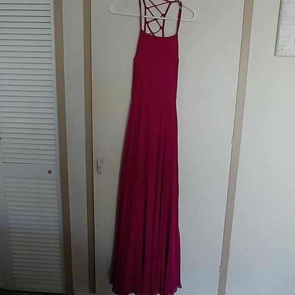 Lulus Dresses Lulus Maxi Fuchsia Formal Dress Medium Poshmark